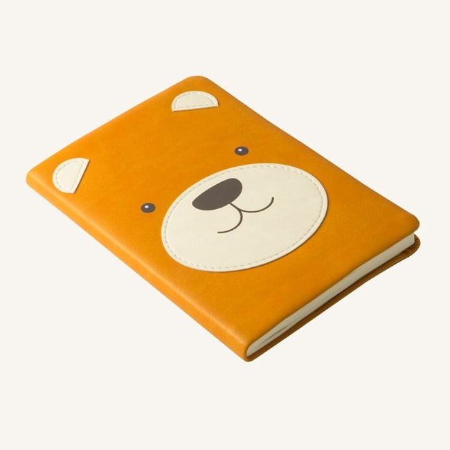 Daycraft Animal Pals lined notebook A6 (brown bear)