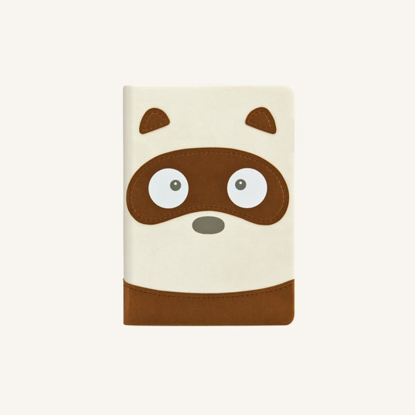 Daycraft Animal Pals lined notebook A6, Tanuki