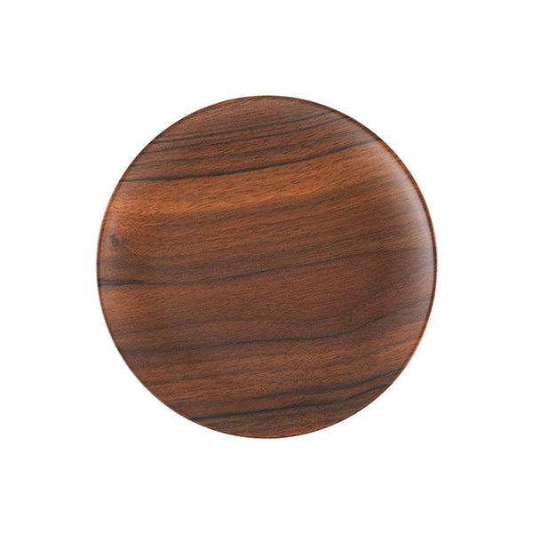 Zicco Round Plate, Brown Wood