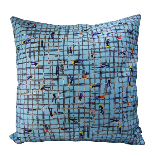 'Bamboo Scaffolding' cushion cover