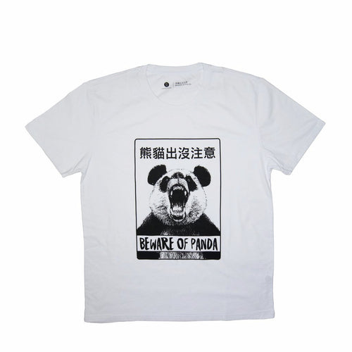 'Beware of Panda' tee (white), T-shirt, Goods of Desire, Goods of Desire