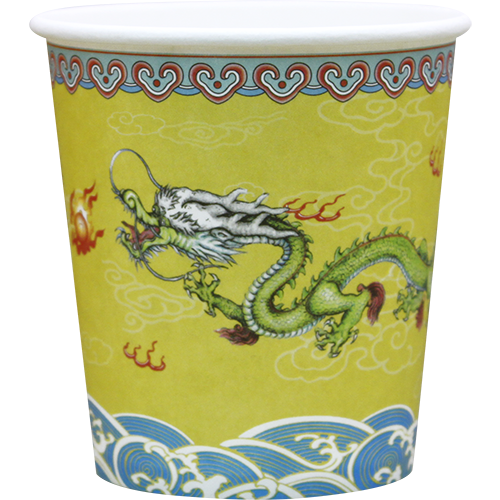 'Golden Dragon' Paper Cups