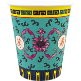 'Prosperity' Paper Cups in Teal