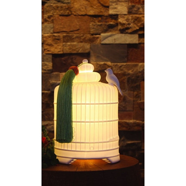 TOPCHOICE Birdcage Small Table Lamp