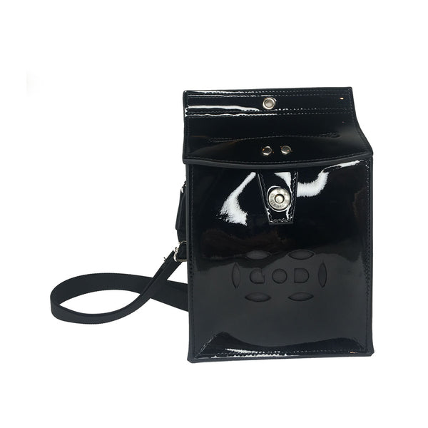 Letterbox Bag in leather (Patent black)