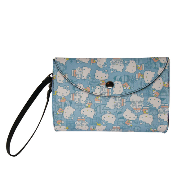 'Hello Kitty x G.O.D. Hong Kong Playtime' leather clutch (baby blue)