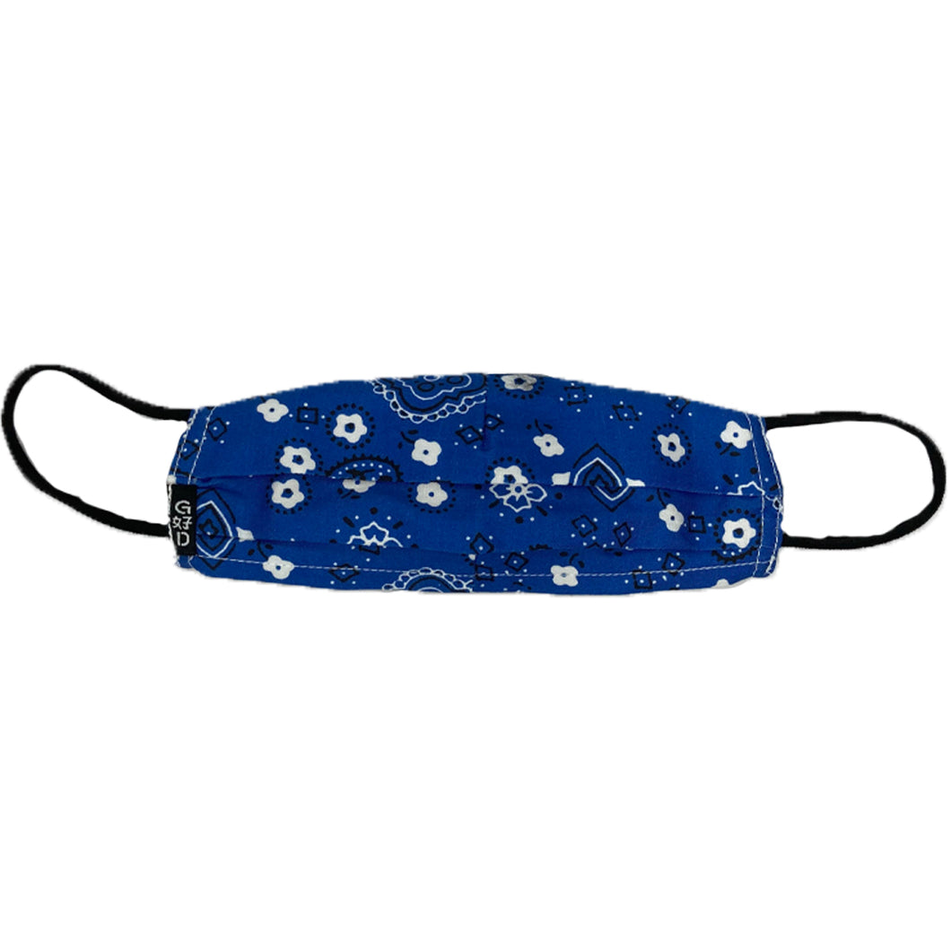 Kids Cloth Mask With Adjustable Ear Strap, Bandana Blue