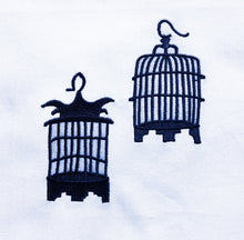 Load image into Gallery viewer, Blue Birdcages Tea Towel by Zest of Asia