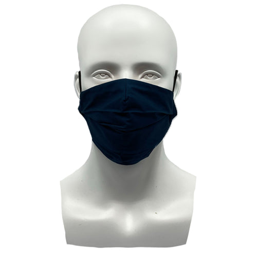 Plain Navy Pleated Mask