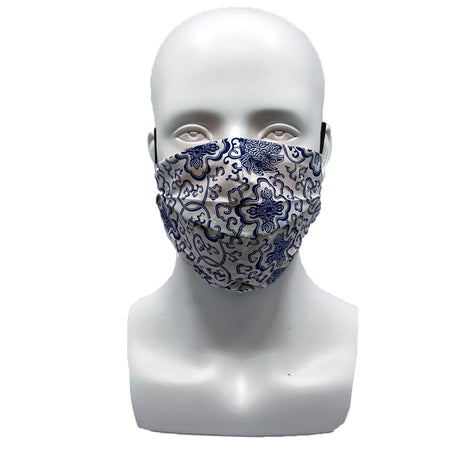 Blue Stripes Banded Mask with Adjustable String