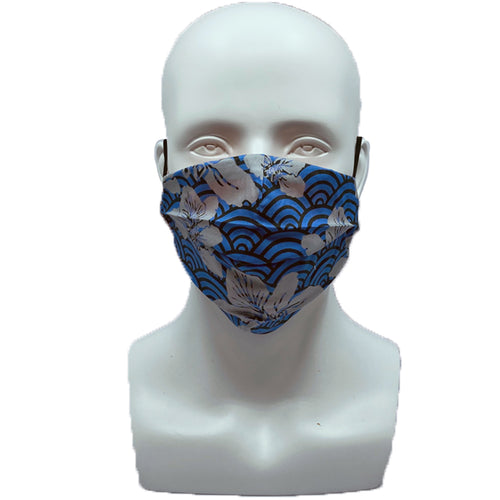 Bauhinia Waves Pleated Mask