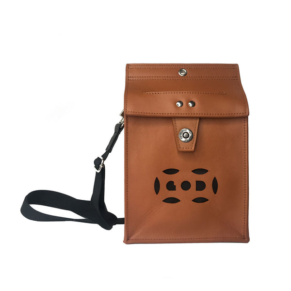Letterbox Bag in leather (Light orange)