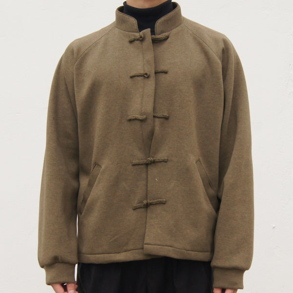 Chinese Button Raglan Sleeves Jacket (army green)