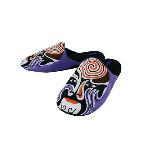 Betta 'Chinese Opera Man' slippers (purple)