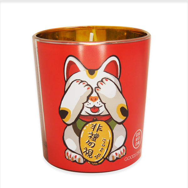'Lucky Cat' soy jar candle