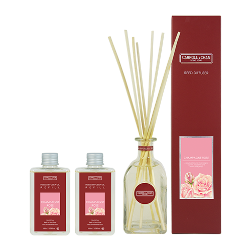 Champagne Rose 200ml Diffuser Set by Carroll&Chan