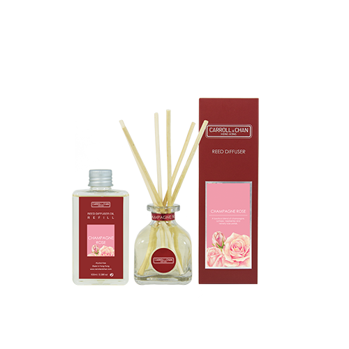 Champagne Rose 100ml Diffuser Set by Carroll&Chan