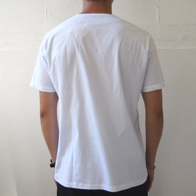 Handcrafted Chinese buttons top (White)