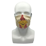 One Layer Fabric Ruffle Mask with Adjustable String, ROOSTER