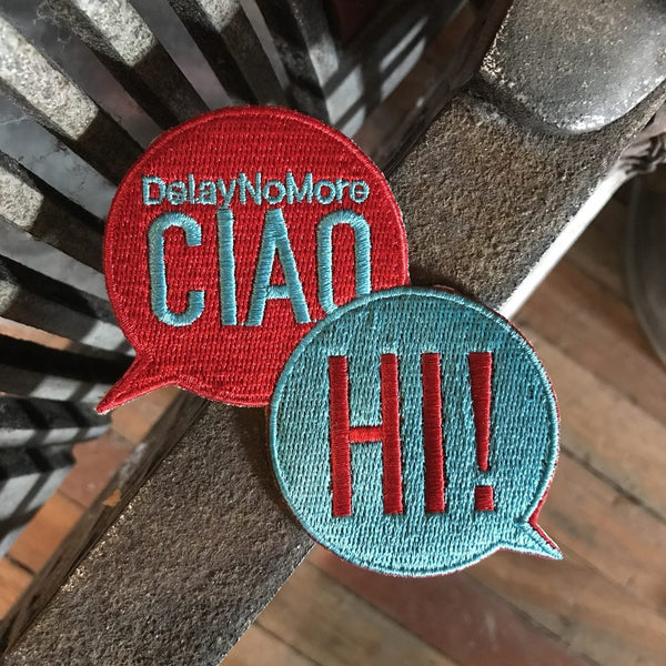 'Ciao Hi' Embroidered Patch