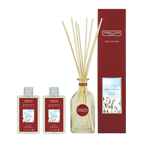 Clean Cotton 200ml Diffuser Set by Carroll&Chan