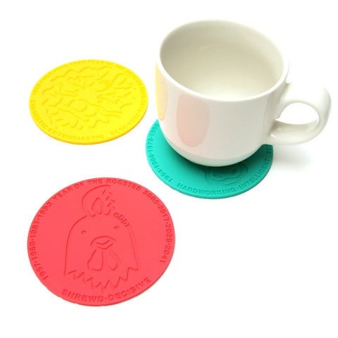 'Chinese Zodiac Rooster' coaster, Tabletop and Entertaining, Goods of Desire, Goods of Desire