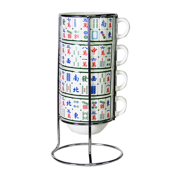 'Mahjong' stackable mugs