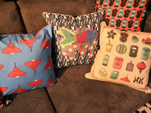 Load image into Gallery viewer, Liz Fry Design Cushion Cover, Java Road Lamps
