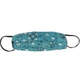 Kids Cloth Mask With Adjustable Ear Strap, Bandana Turquoise