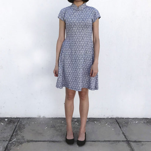 'Yung Chung' Printed Qipao dress (Kaleidoscope)