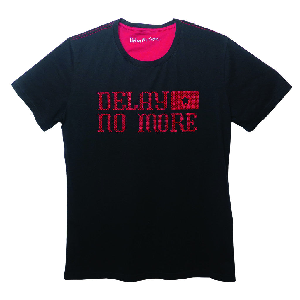 'Delay No More STAR' T-Shirt (Black) - Goods of Desire