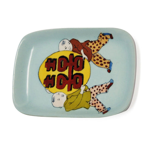 'Double Happiness Kids' Hand Painted Soap Dish