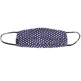 Dots Purple Pleated Mask
