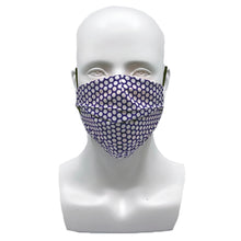 Load image into Gallery viewer, Dots Purple Pleated Mask