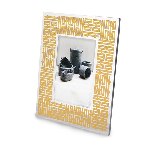'Double Happiness' photo frame (silver/gold)