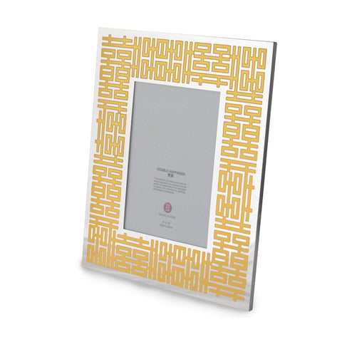 'Double Happiness' photo frame (silver/gold) - Goods of Desire