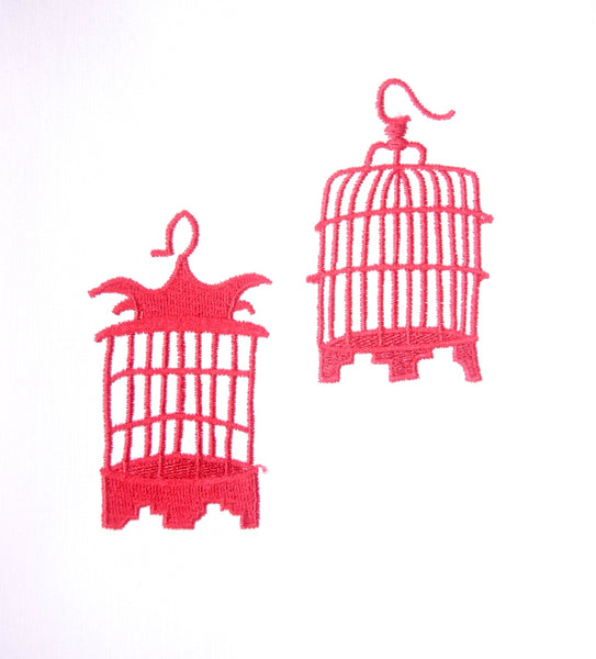 Red Birdcages Tea Towel by Zest of Asia