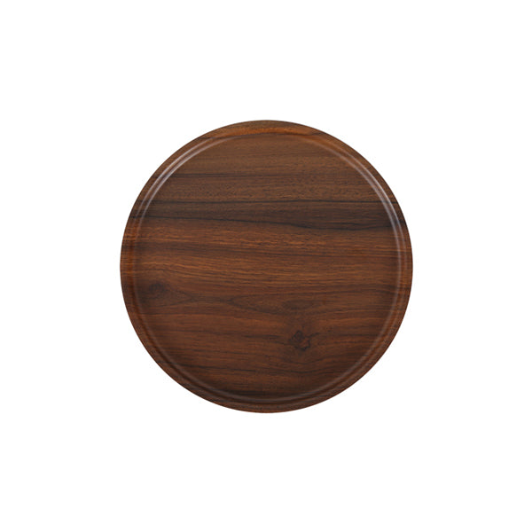 Zicco Round Bowl & Cover, Brown Wood