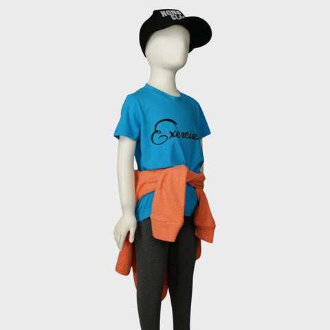 Kids 'Exercise book' tee (Aqua) | Goods of Desire