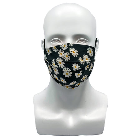 Paisley Navy Pleated Mask with Mesh Fabric Inner Layer