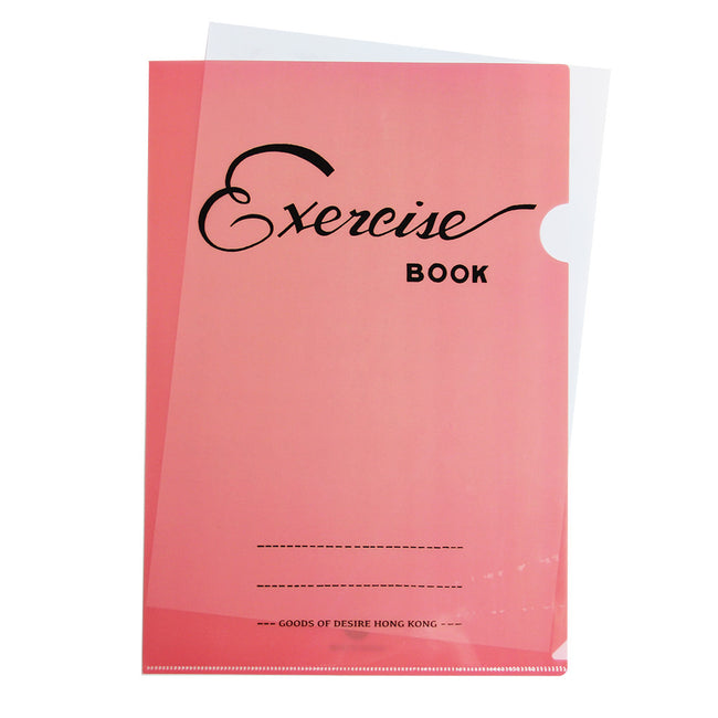 'Exercise Book' A4 File Folder (pink)