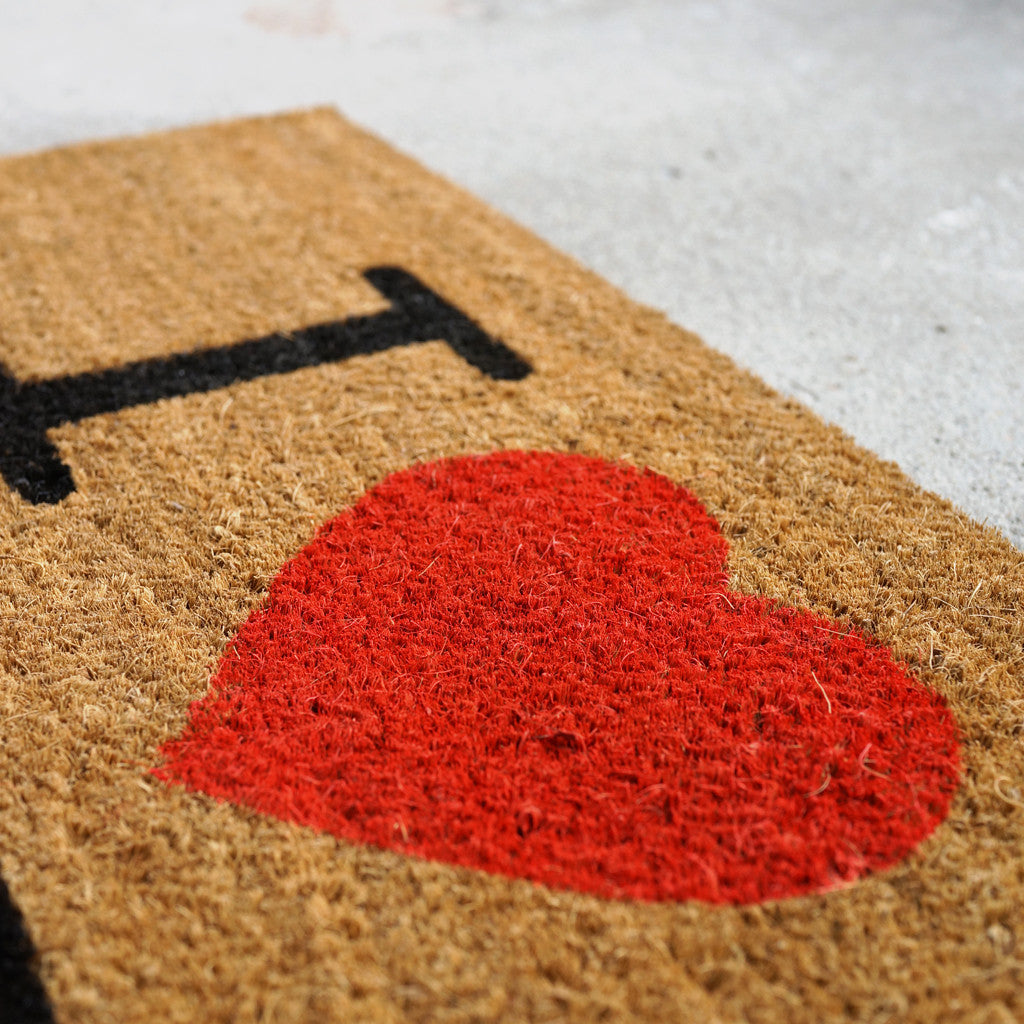 'I Love HK Foot'  coir doormat