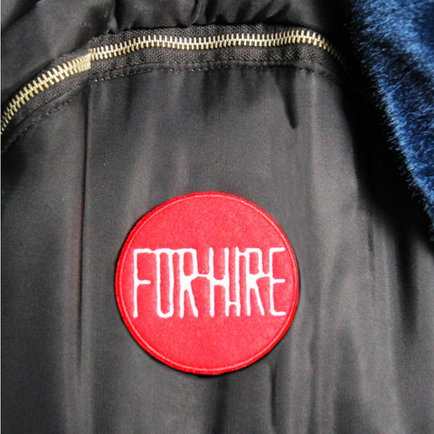 'For Hire' embroidered patch