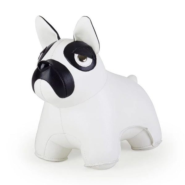 French Bulldog Bookend in White
