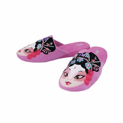 Betta 'Chinese Opera Woman' slippers (light blue)