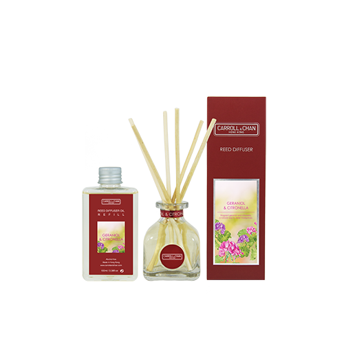 Geraniol & Citronella 100ml Diffuser Set by Carroll&Chan