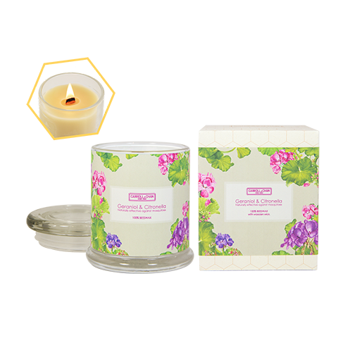 Geraniol & Citronella Beeswax Jar Candle by Carroll&Chan