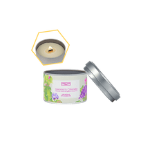Load image into Gallery viewer, Geraniol & Citronella Beeswax Tin Candle by Carroll&Chan