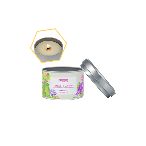 Geraniol & Citronella Beeswax Tin Candle by Carroll&Chan