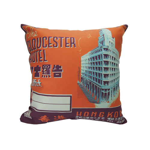 'Vintage Hotels' cushion cover - Gloucester Hotel - (45 x 45 cm)